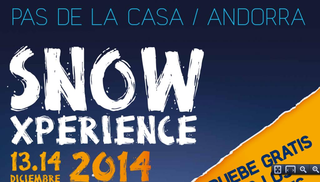 SNow Xperience Ski Test gratuíto de material de la temporada 2014-2015 y precios especiales en Grandvalira - Pas de la Casa.