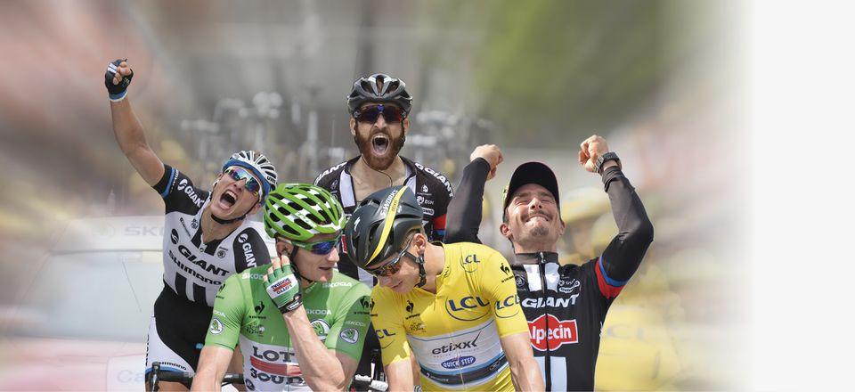 """Christian PRUDHOMME Directeur du Tour de France Première photo, premiers frissons… Après trois semaines sur le Tour de France, les souvenirs s'accumulent : des démonstrations de joie intenses font oublier des larmes de détresse, les montagnes laissent leur empreinte sur la course tandis qu'une poignée de sprints se distinguent par leur âpreté, et que le podium des Champs-Élysées ponctue avec solennité un diaporama riche en émotions. Pour autant, ma mémoire garde bien souvent une tendresse particulière pour la première image du Tour. Les metteurs en scène que nous sommes doivent donc apporter le plus grand soin au décor au sens large du Grand Départ. Et, c'est bien sûr une évidence, le Mont-Saint-Michel saura sublimer avec majesté le geste athlétique autant qu'esthétique des acteurs du peloton. C'est donc au pied de la « Merveille de l'Occident » que les cyclistes du 103e Tour de France seront réunis samedi 2 juillet 2016. La première séquence qui s'engagera alors avec deux étapes en ligne intégralement dessinées dans le département de la Manche contient précisément les ingrédients d'un spectacle total. Au-delà de l'écrin qui nous est offert, la possibilité d'installer une ligne d'arrivée à Utah Beach Sainte-Marie-du-Mont pour un éventuel sprint saluera la mémoire des soldats qui ont débarqué sur les plages normandes en juin 1944. Et le lendemain, alors que la course aura pris son envol de Saint-Lô, chef-lieu de la Manche, le final concocté tout à côté de Cherbourg-en-Cotentin, avec l'ascension de la sévère côte de La Glacerie, contraindra les favoris de la course à lever le voile sur leur forme du moment. En y ajoutant le départ de la troisième étape depuis Granville, le portfolio promet donc de nous offrir quelques clichés de premier choix… Philippe Bas Président du Conseil départemental de la Manche / Sénateur de la Manche / Ancien ministre """"La Manche c'est, d'un côté, 13 siècles d'histoire avec le Mont-Saint-Michel et, de l'autre, 70ans de Liberté avec Utah Beach"""